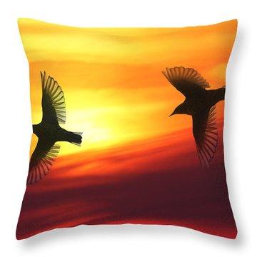 Bird Lovers Throw Pillow