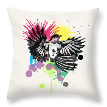 Bird Throw Pillow by Mark Ashkenazi