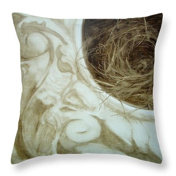 Bird Nest 1 Throw Pillow