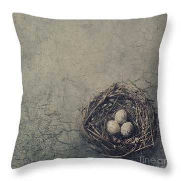 Bird Nest Throw Pillow
