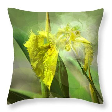 Bird Of Iris Throw Pillow
