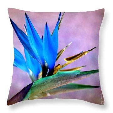 Bird Of Paradise Bloom Throw Pillow