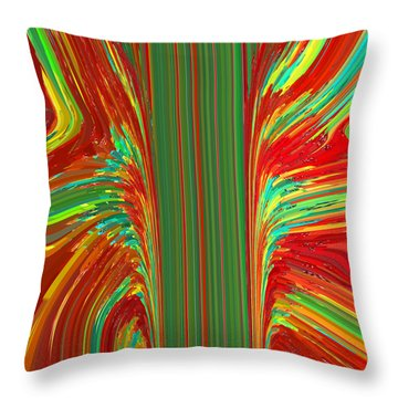 Throw Pillow featuring the painting Bird Of Paradise I  C2014 by Paul Ashby