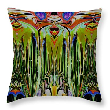 Bird Of Paradise Manipulation 1 Throw Pillow