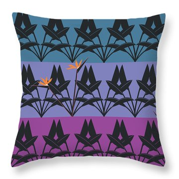 Bird Of Paradise Pattern Throw Pillow