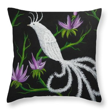 Bird Of Paradise Throw Pillow by Tanya Provines
