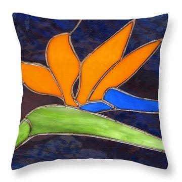 Bird Of Paridise Throw Pillow