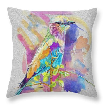 Bird On A Twig Throw Pillow