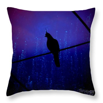 Bird On The Wire ... Throw Pillow