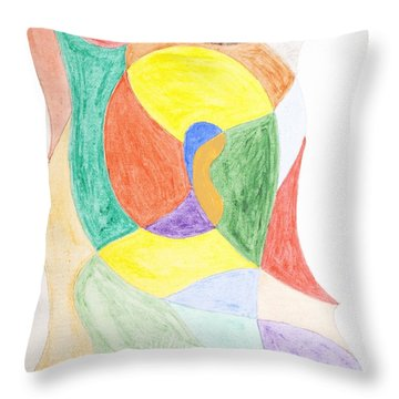 Throw Pillow featuring the painting Duck by Stormm Bradshaw