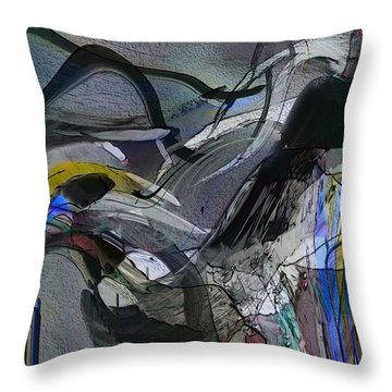 Throw Pillow featuring the digital art Bird That Wept With Me by Richard Thomas