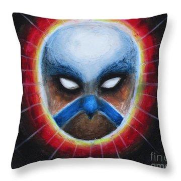 Bird Totem Mask Throw Pillow