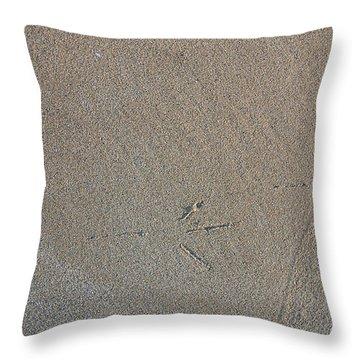 Bird Tracks Throw Pillow by Steven Ralser