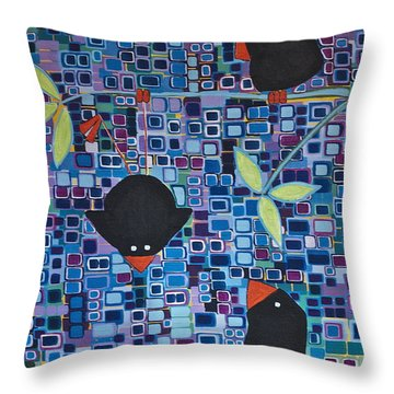 Bird Tricks Throw Pillow
