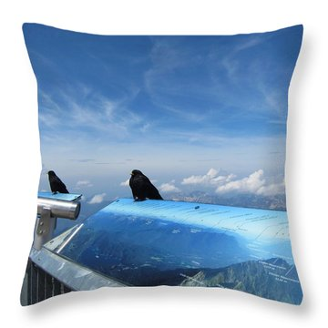 Throw Pillow featuring the photograph Bird Watch by Pema Hou