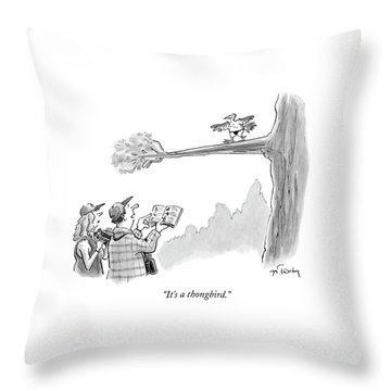 Bird Watchers Spot A Bird Wearing A Thong Throw Pillow