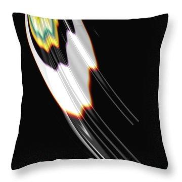 Bird Wing Fractal Throw Pillow