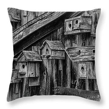 Birdhouse Collection Throw Pillow by Betty Denise