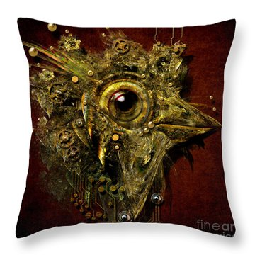 Birdmachine Throw Pillow