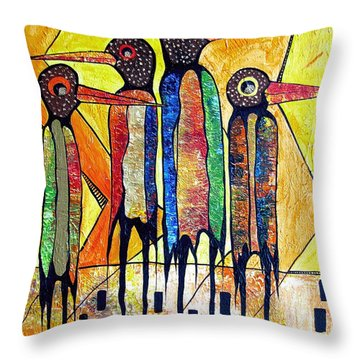 Birds 738 - Marucii Throw Pillow