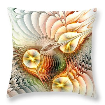 Birds Throw Pillow by Anastasiya Malakhova