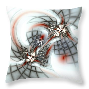 Birds And Cages Throw Pillow by Anastasiya Malakhova