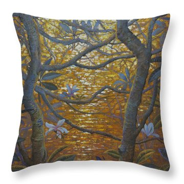 Birds And Light Throw Pillow