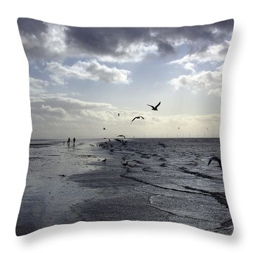Birds At The Beach 2 Throw Pillow