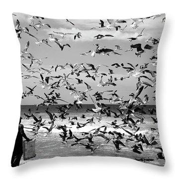 Seagulls Throw Pillows