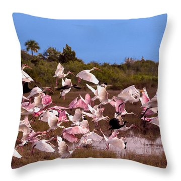 Birds Call To Flight Throw Pillow