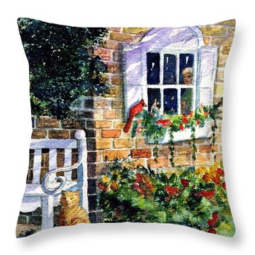 Bird's Eye View Throw Pillow by Marilyn Smith