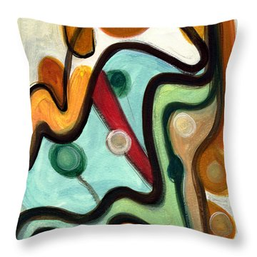 Throw Pillow featuring the painting Birds In Flight by Stephen Lucas