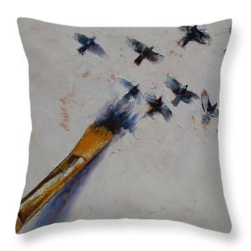 Birds Throw Pillow by Michael Creese