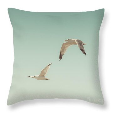 Birds Of A Feather Throw Pillow by Lucid Mood