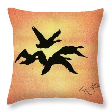 Birds Of Flight Throw Pillow