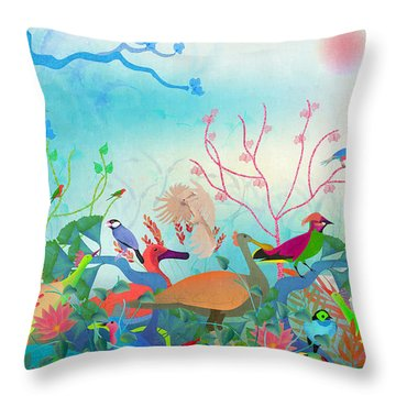 Birds Of My Landscapes - Limited Edition  Of 15 Throw Pillow