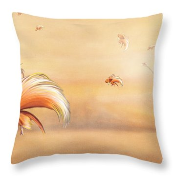 Birds Of Paradise In The Fog Throw Pillow by Angela A Stanton