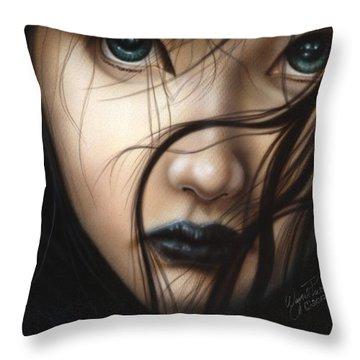 Birds Of Prey- Raven Throw Pillow