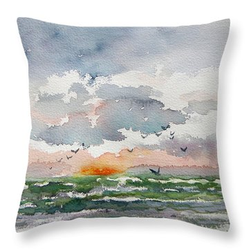 Birds Rising IIi Throw Pillow