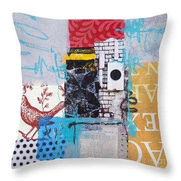 Bird's Song Throw Pillow by Elena Nosyreva