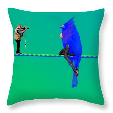Birdwatcher Throw Pillow by David Mckinney