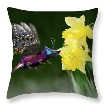 Birguana Taster Throw Pillow by Arthur Fix