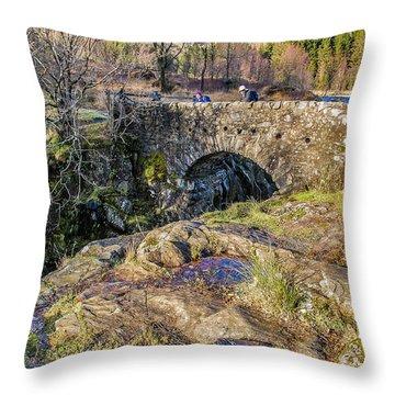 Birks Bridge Lake District Throw Pillow by Trevor Kersley