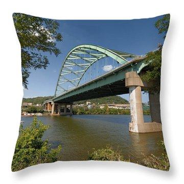 Birmingham Bridge Pittsburgh South Side Throw Pillow by Amy Cicconi
