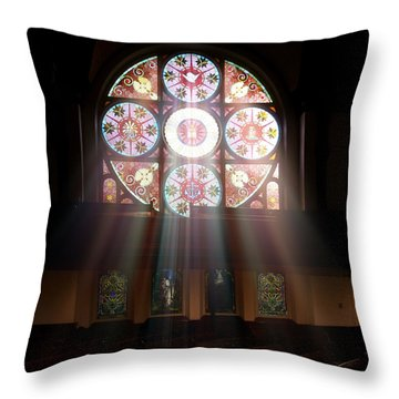 Birmingham Stained Glass Throw Pillow
