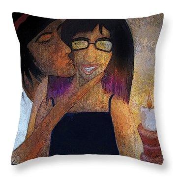 Birrthday Girl Throw Pillow