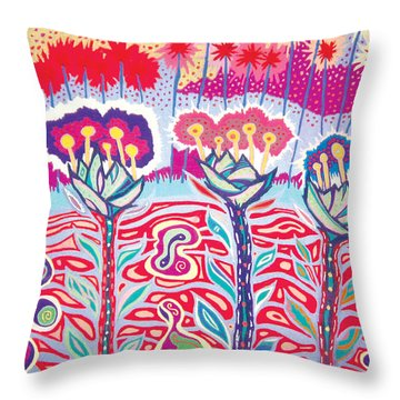 Birth Day Throw Pillow by Mike Manzi