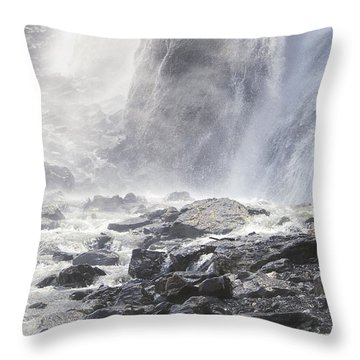 Throw Pillow featuring the photograph Birth Of A River by Colleen Williams