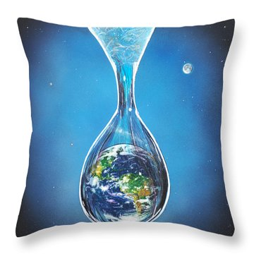 Throw Pillow featuring the painting Birth Of Earth by Mary Scott