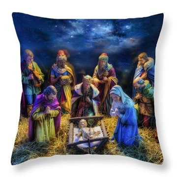Birth Of Jesus Throw Pillow